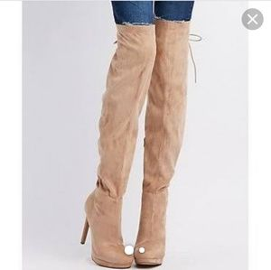 NWOT CUTE OVER THE KNEE BOOTS